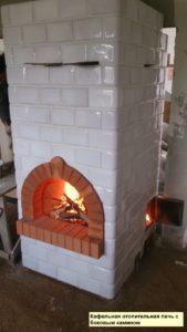 Изразцовая печь с камином