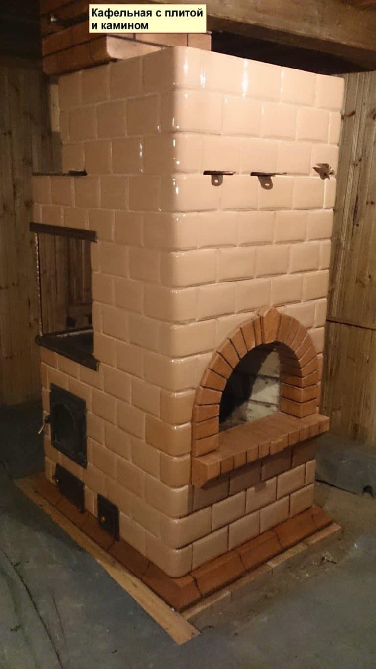 Изразцовая печь с камином Минск