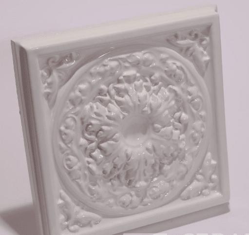 Изразец камин