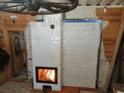 Кафельная изразцовая печь Дятлово